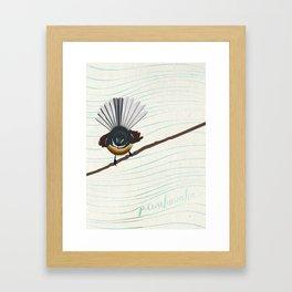 Piwakawaka Framed Art Print