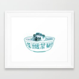 Hedgehog Hot Tub #2 Framed Art Print
