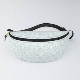 Floral Freeze White Fanny Pack