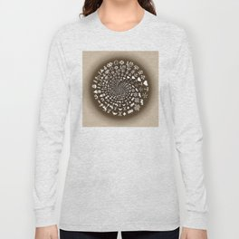 Coffee Lovers Mandala Long Sleeve T-shirt