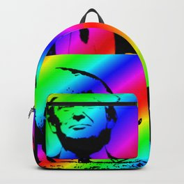 Trump with Pig Rainbow Stripe Backpack