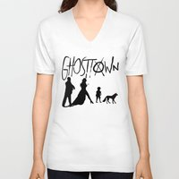 madonna V-neck T-shirts featuring Madonna - Ghosttown  by franziskooo