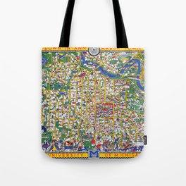 ANN ARBOR University map MICHIGAN dorm Tote Bag