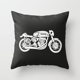 Norton Model 30 - Cafe Racer series #2 Throw Pillow