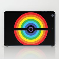 pokeball iPad Cases featuring Rainbow Pokeball by Hi 5 Graphics