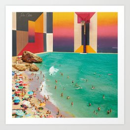 Beach Basket Ya'll Art Print