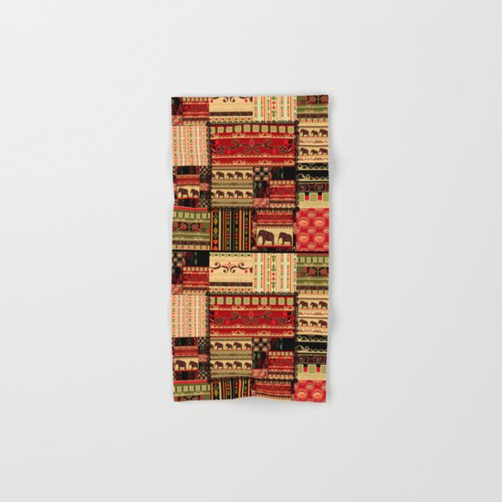 African patchwork. Hand & Bath Towel