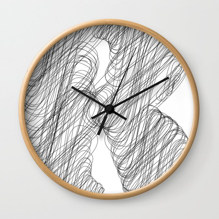""" Cloud Collection "" - Minimal Letter R Print Wall Clock"