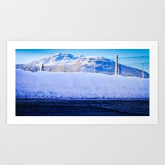 Snow Ledge Art Print