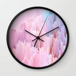Delicate Glitches Wall Clock