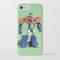 optimus prime iPhone & iPod Cases featuring Optimus Prime (Animated) by Fanboy30