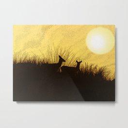 Safari Deer Metal Print