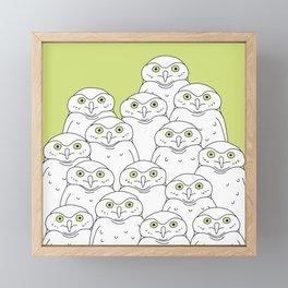 Group of Owls Framed Mini Art Print