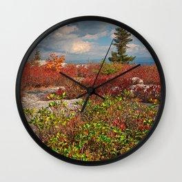 Dolly Sods Ruby Rockscape Wall Clock