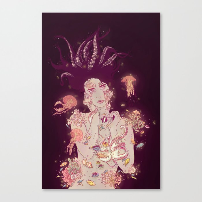 Abyss Lady Canvas Print