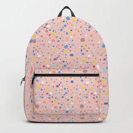 Postmodern Granite Terrazzo Large Scale in Pink Multi Backpack
