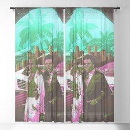 Miami Vice retro Sheer Curtain