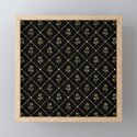 Black & Gold Rose Princess Pattern by nlmiller07art