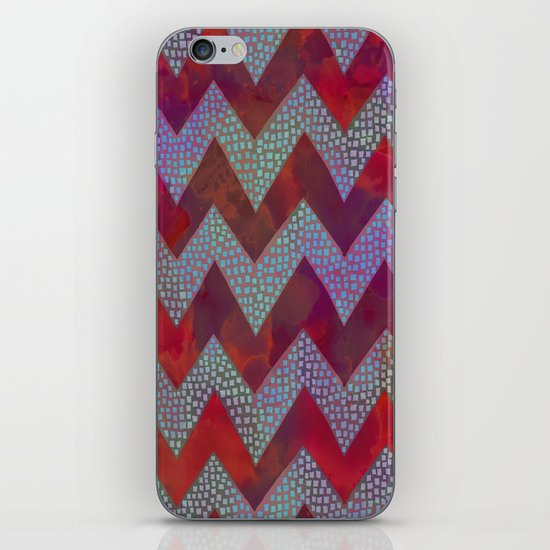 Little Squares Chevron - Red iPhone & iPod Skin