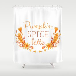Pumpkin Spice Latte Shower Curtain