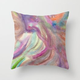 Fairy Visit Throw Pillow