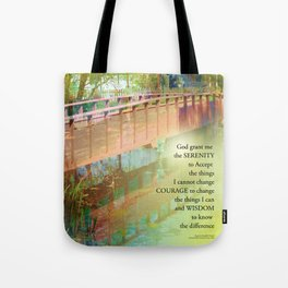Serenity Prayer Long Bridge Tote Bag