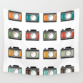 Colourful Camera Icons Wall Tapestry