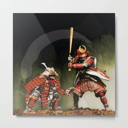 Samurai Warriors Baseball Furies Metal Print