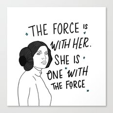 The Force is with Her Canvas Print