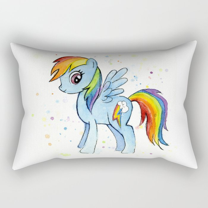 Rainbow Dash MLP Pony Rectangular Pillow