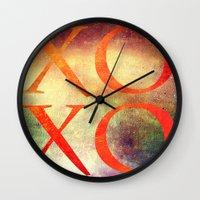 xoxo Wall Clocks featuring XoXo by Fine2art