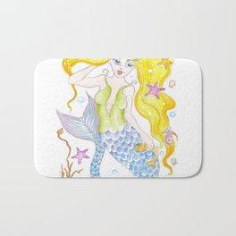 Cute Mermaid Bath Mat
