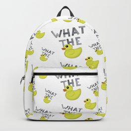 WHAT THE DUCK written with duck tape Backpack