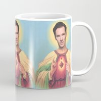benedict Mugs featuring Benedict Cumberbatch by Michelle Wenz