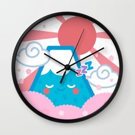 Sleepy fuji Wall Clock