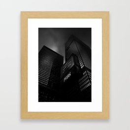 Downtown Toronto Fogfest No 16 Framed Art Print