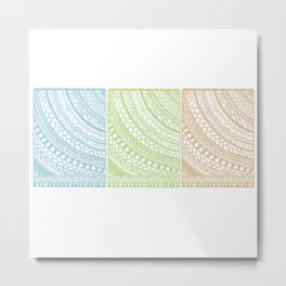 Weaved Elements I Metal Print