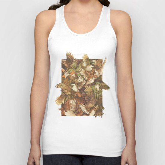 Red-Throated, Black-capped, Spotted, Barred Unisex Tank Top