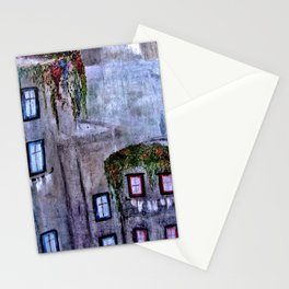 Houses in Milan in the evening Italy Stationery Cards