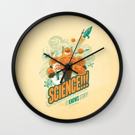 Science!!! It Knows Stuff! Wall Clock