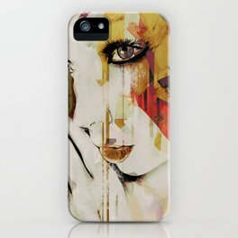 Pages Abstract Portrait iPhone Case