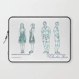 No. 3 character designs for the Millers, pencil & ink Laptop Sleeve