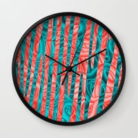 community Wall Clocks featuring Gated Community by RingWaveArt