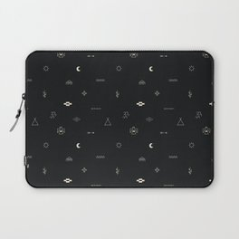 Southwestern Symbolic Pattern in Black & Cream Laptop Sleeve