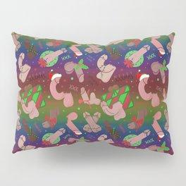 Merry Dickmas, Gay Pride Pattern Pillow Sham