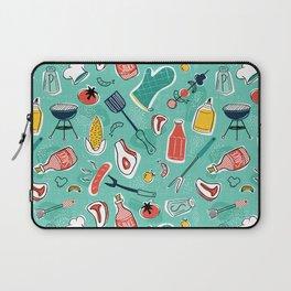 Backyard BBQ Aqua Laptop Sleeve