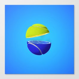 Tennis ball lemon Canvas Print