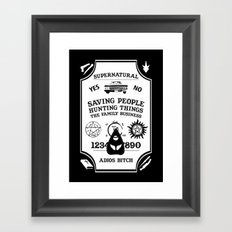 Supernatural Ouija Design Framed Art Print