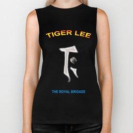 """"""" TIGER LEE """" logo design  Biker Tank"""