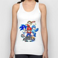 smash bros Tank Tops featuring Super Smash Bros  by Blaze-chan